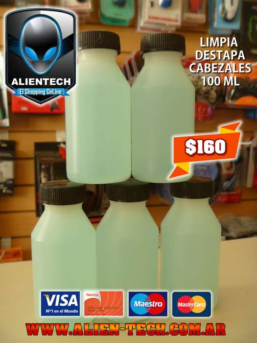 ALIENTECH: LIMPIA / DESTAPA CABEZALES DE IMPRESORAS 100 ML