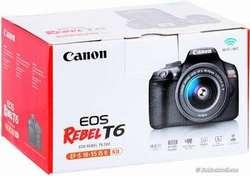 Cámara Canon Rebel Eos T6. 18mp. Wifi. Lente 1855mm. Nuevo de Paquete