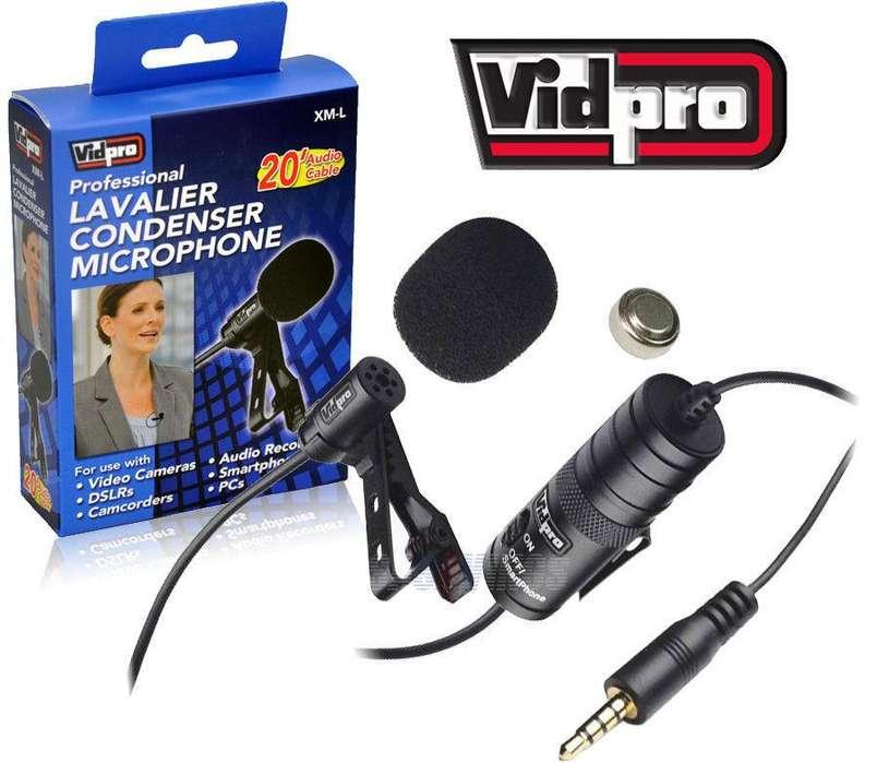 Microfono De Solapa Lavalier Vidpro Xml 20' Audio Cable