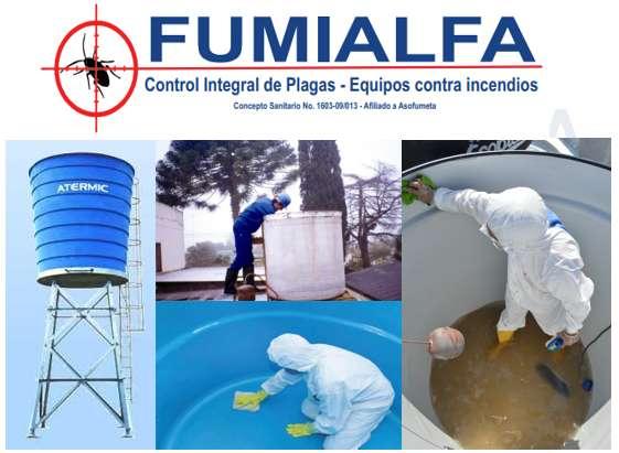 FUMIALFA, Lavado y desinfección de tanques aereos y subterraneos. TEL: 310 222 14 94