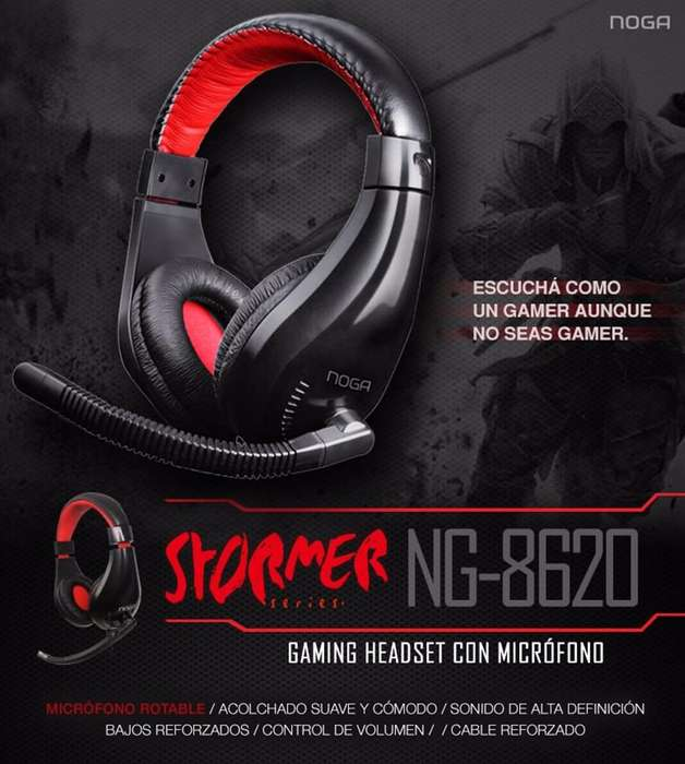 Auricular Vincha Con Micrófono Noga Stormer Ng8620 gamer