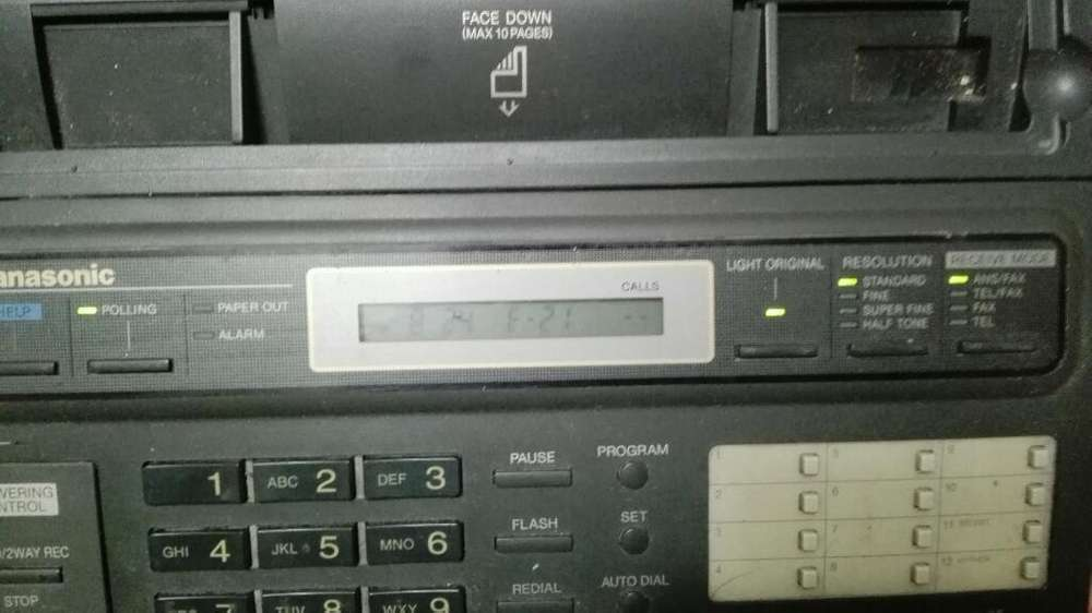 Telefono Fax Funciona Perfecto Panasonic