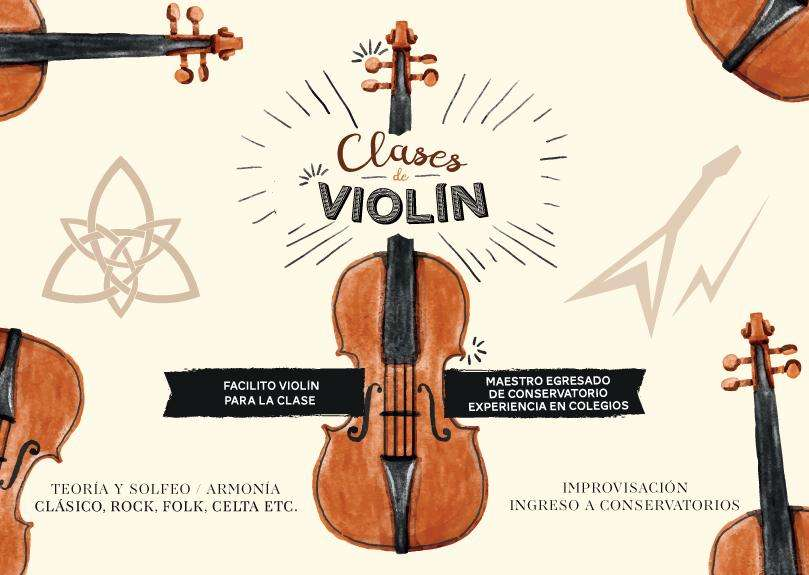 Clases de violín. Acústico y eléctrico. Celta, clásico y otros. Teoría y solfeo. Armonía. Improvisación.