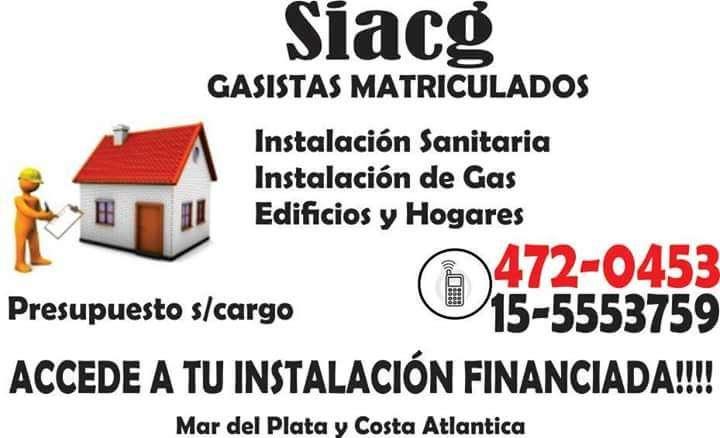 GAS - AGUA - CLOACAS - CALEFACCION
