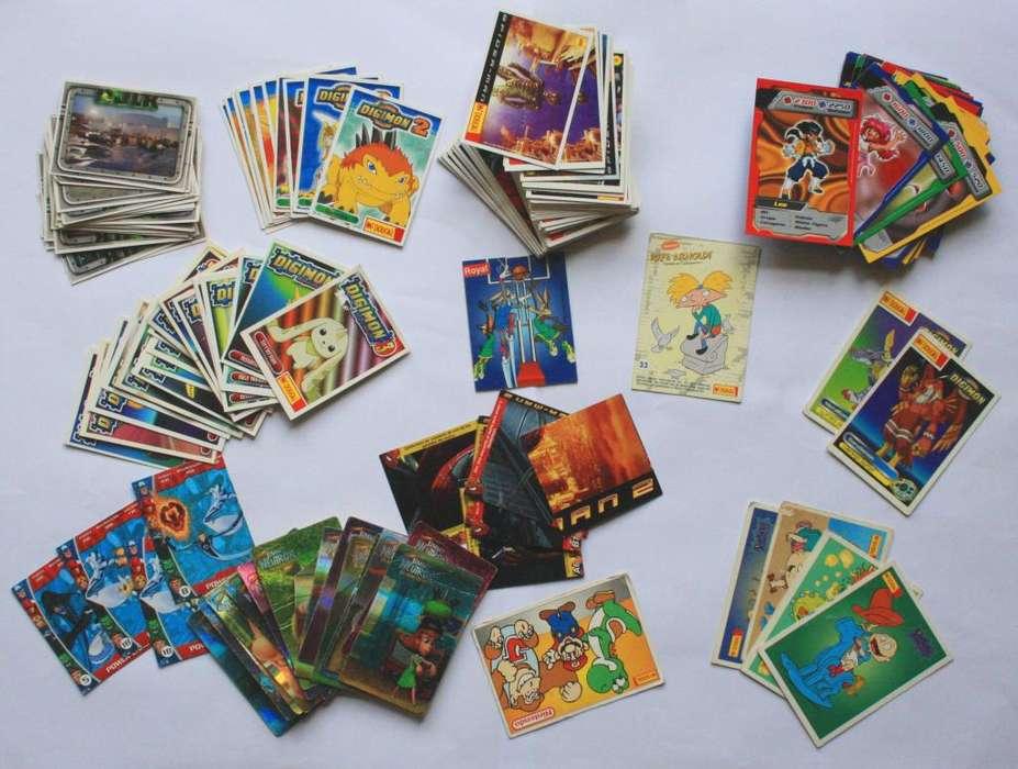 Lote Tarjetas Digimon Spiderman Marvel Mcdougal Cards