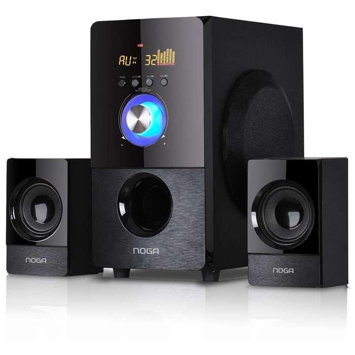 Parlante Bluetooth HomeTheater 2.1 40W FM/USB/SD/LED