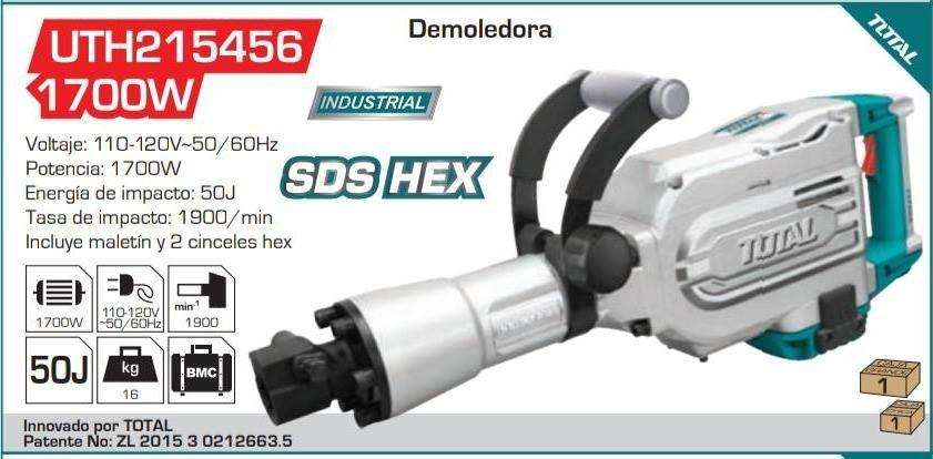 Demoledor Industrial Total 1700w Sds Hex