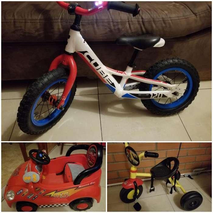 Bicicleta y carro bateria