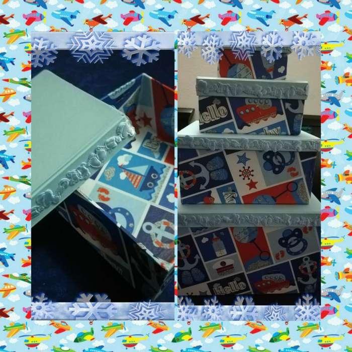 Cajas Decorativas en Cartón Prensado