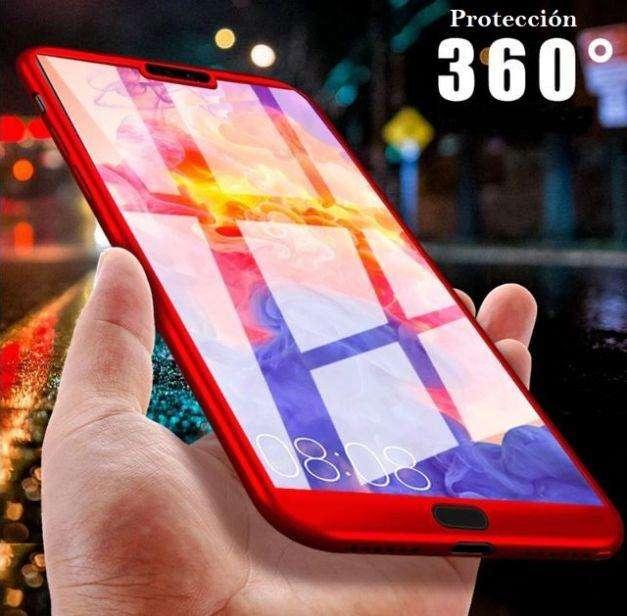 Carcasa Antishock 360 Huawei P20 P20 Lite Vidrio Templado