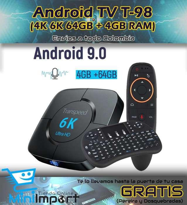 ANDROID TV T98 4K 6K 64GB 4y GB RAM