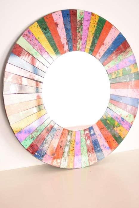 Espejo Circular Redondo Mosaico de pared.