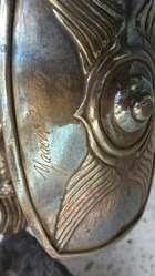 Escultura David Y Goliat en Plata y marmol Yaakov Heller Jerusalen