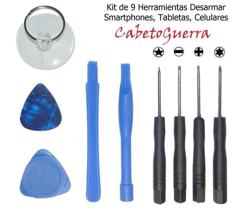 Kit de 9 Herramientas Reparación Celulares Smartphones Tabletas etc