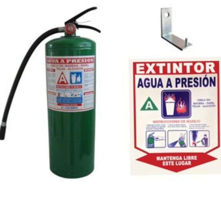Extintor Agua a Presión
