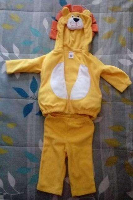 Disfraz de León Marca Carter. Talla 6 – 9 meses