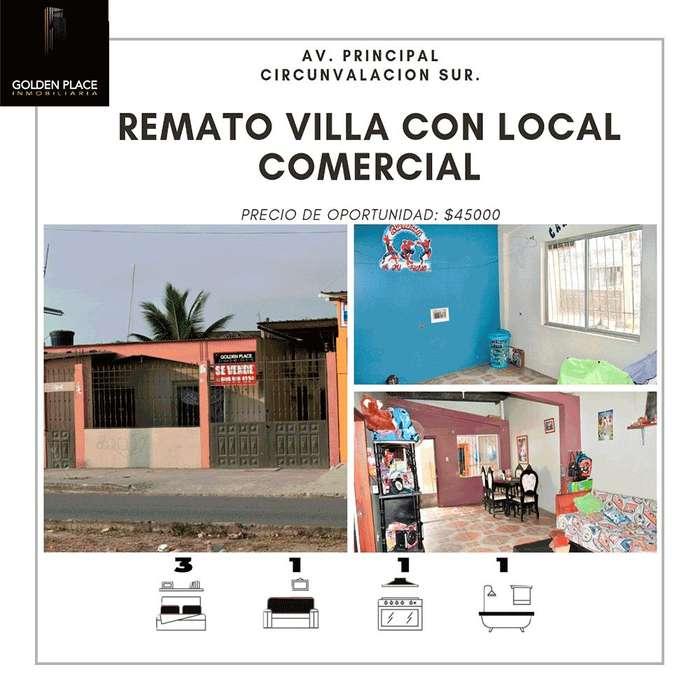 REMATO VILLA CON LOCAL COMERCIAL, AV CIRCUNVALACIÓN SUR ( AVENIDA PRINCIPAL)