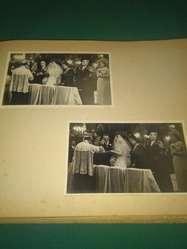 ANTIGUO ALBUM FOTOGRAFICO BODA ENLACE NOVIOS AÑO 1950 CON 100 FOTOS