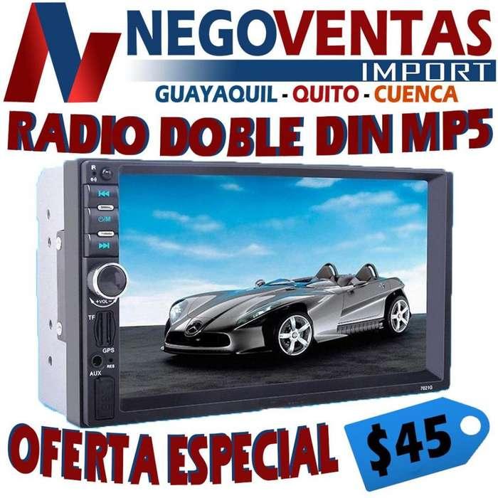 RADIO PANTALLA DOBLE DIN MP5 BLUETOOTH PENDRIVE USB SD AUX FM PRECIO OFERTA 44,99