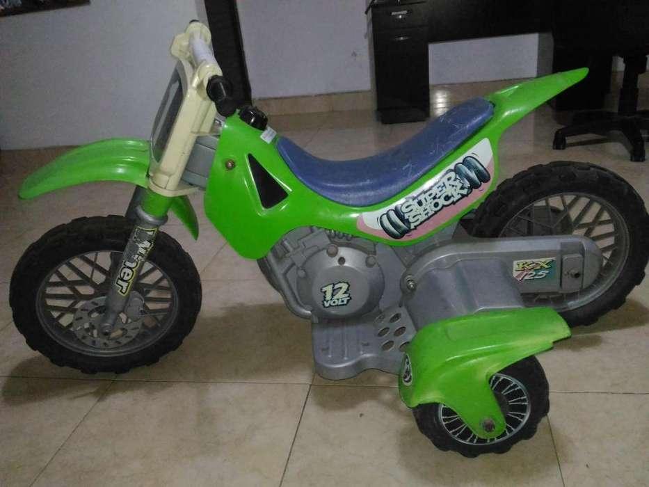 Moto de batería recargable para niños