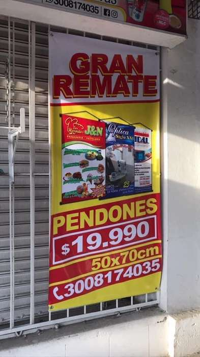 Promocion de pendones en Cartagena