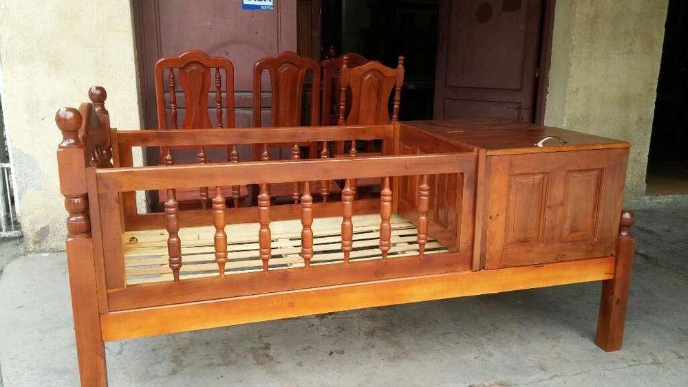 Cama Cuna de Algarrobo Y <strong>muebles</strong> Varios