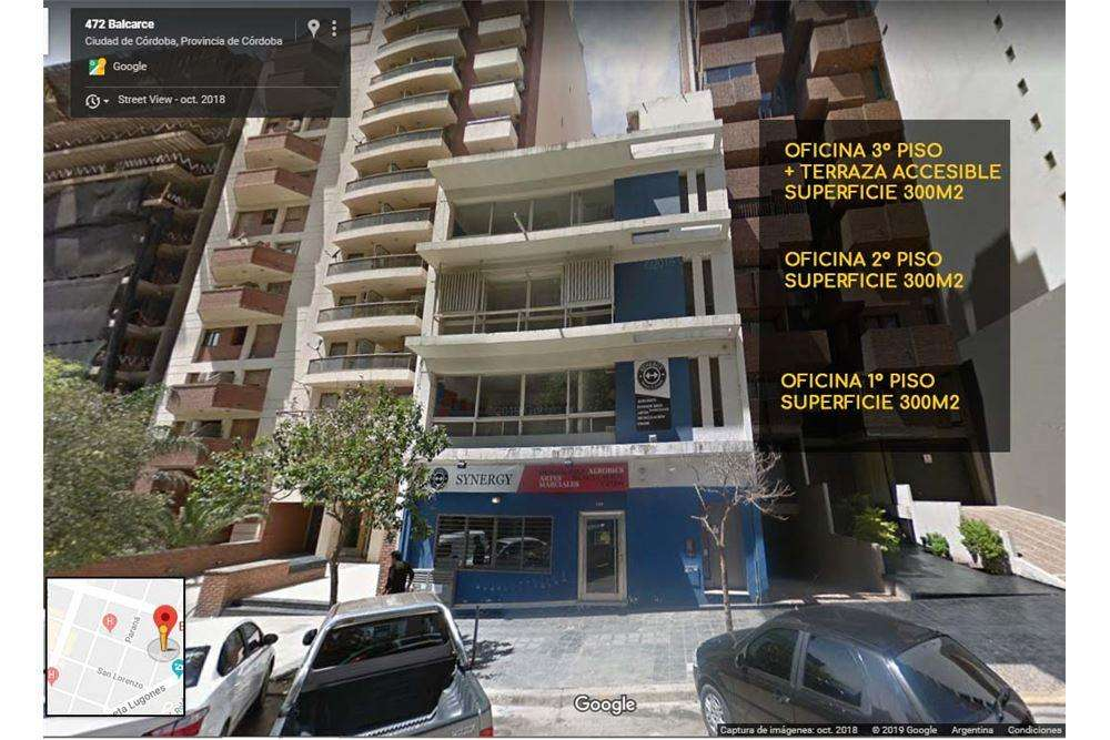 OFICINAS 300m2 Balcarce 469-Nueva Cordoba