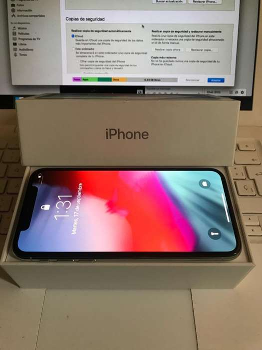 Ganga iPhone X 64Gb Silver Caja Perfecto
