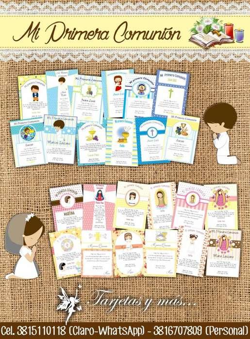 Estampitas/tarjetas MI PRIMERA COMUNION 30 U 230
