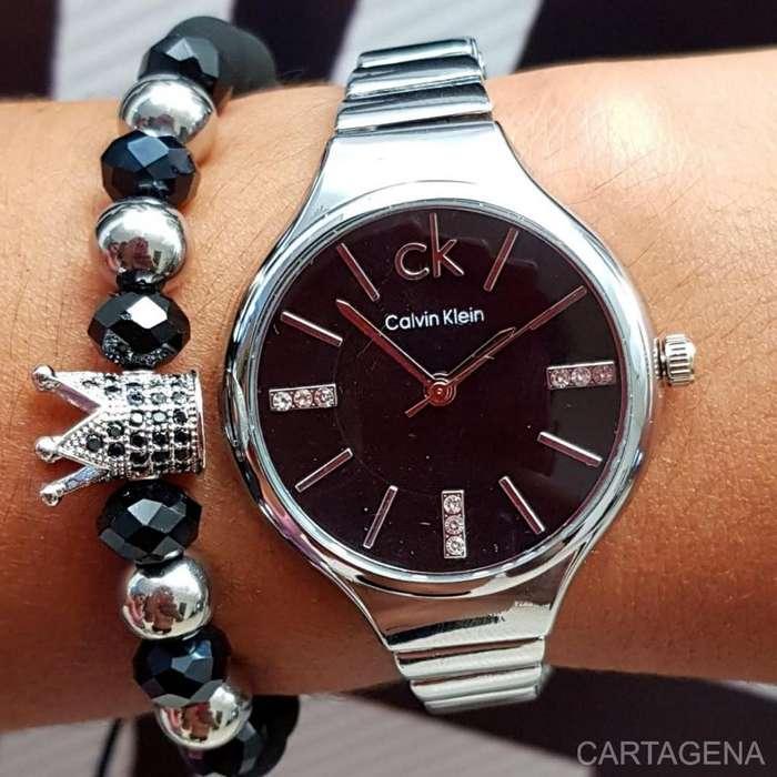 Reloj Calvin Klein en color plateado para mujer