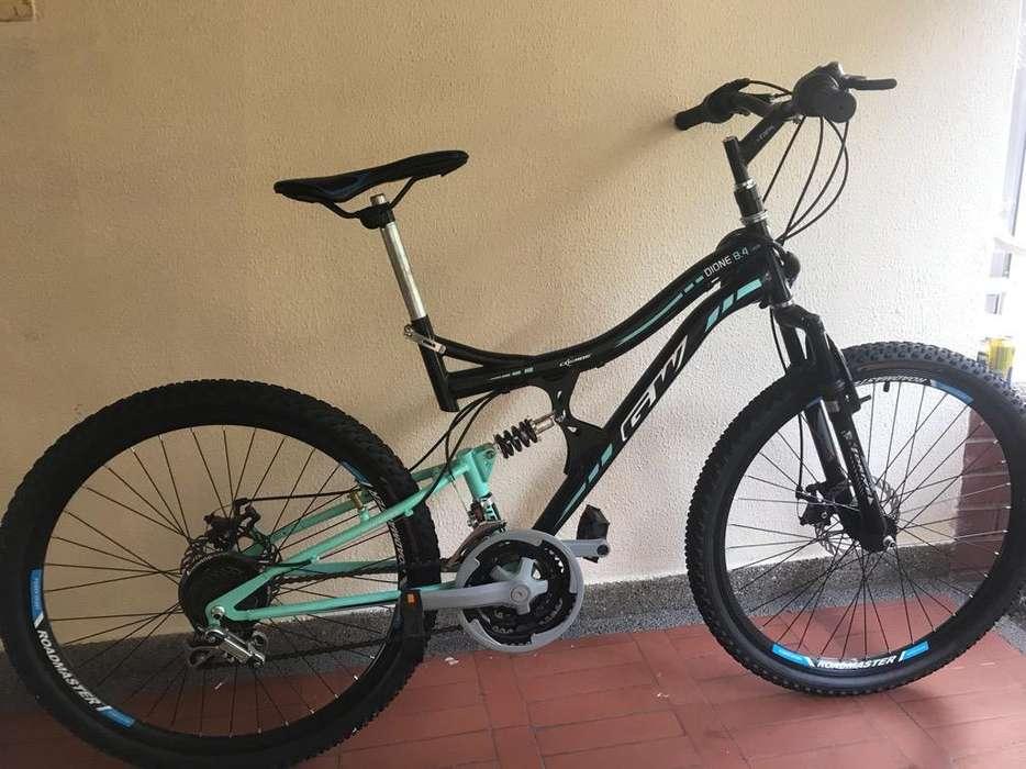 Bicicleta Gw Diadone Negra con Verde
