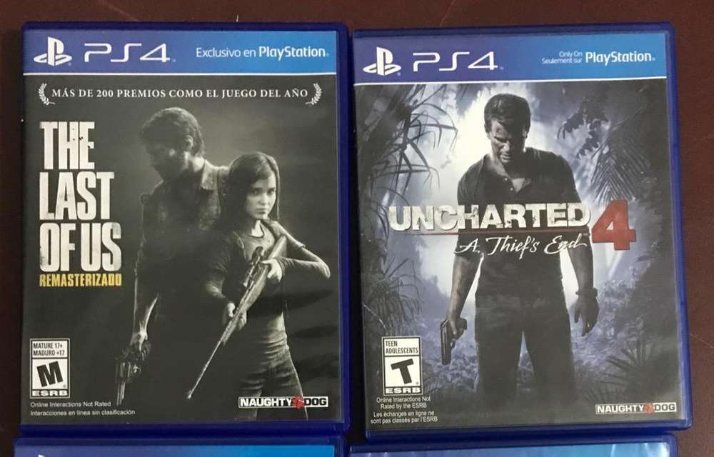 Uncharted 4 Tlou Ps4 Impecables