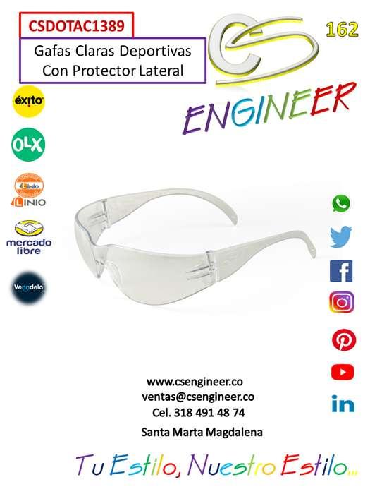 CS ENGINEER - Gafas Claras Deportivas Con Protector Lateral