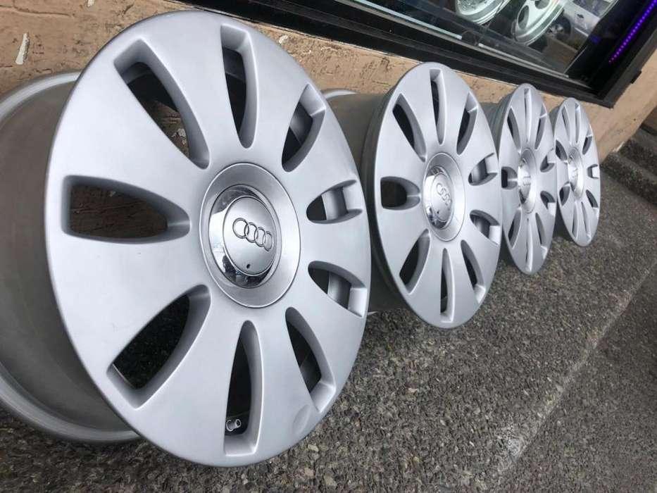 4 Aros Seminuevos R16 Originales Audi 5h 112mm Flamantes.
