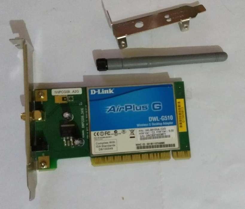 Placa de red Wifi PCI DLink (DWL-G510)