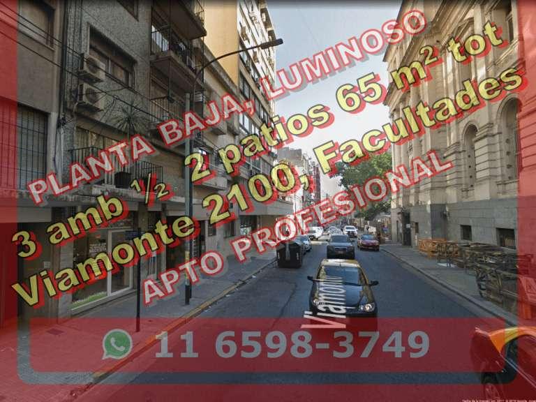 PH B?Norte 3amb 1/2 65m2tot PB 2pat Viamonte 2100 us119.000