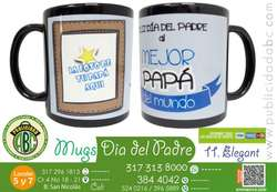 Mugs Negro Con Impresion A Full Color Publicidad Abc