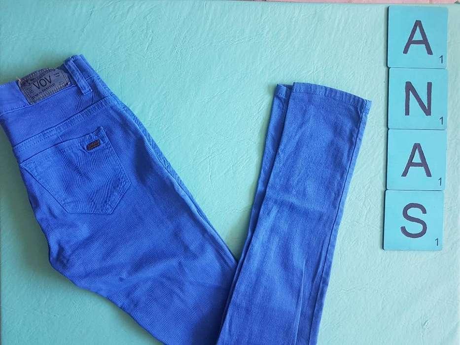 Pantalón Gabardina Azul 26