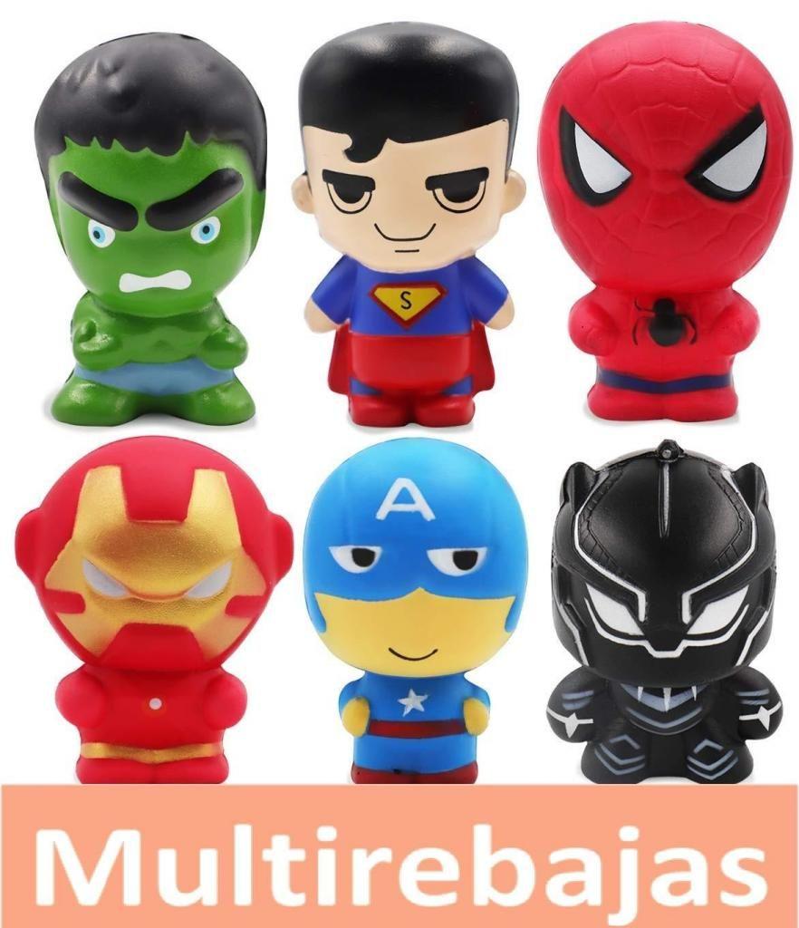 Super Heroes Divertidos Juguetes Antiestres Squishy Toys Spiderman Ironman Hulk