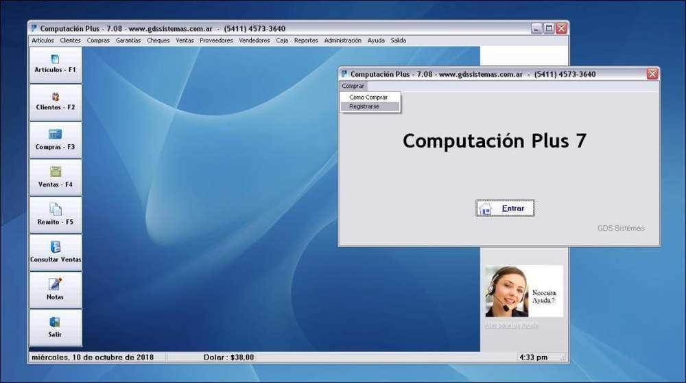 :': COMPUTACIÓN PLUS :': Programa de gestión y facturación para rubro INFORMÁTICA :: Software GDS Sistemas