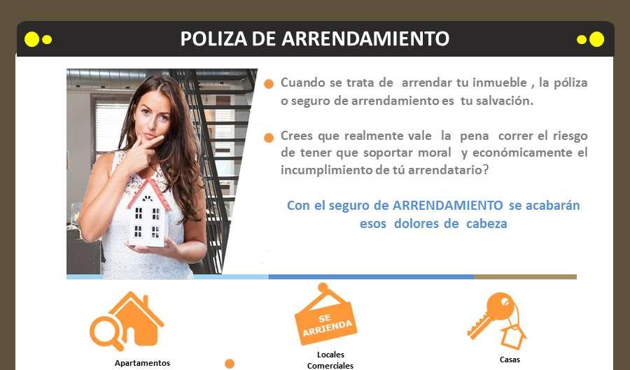 Pòliza de Arrendamiento, Apartamento Locales Comerciales