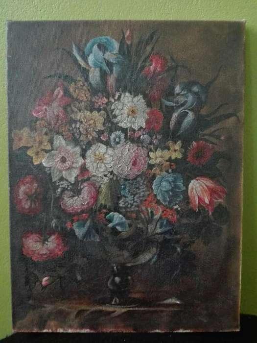 Pintura Al Oleo Flores 30 X40cm