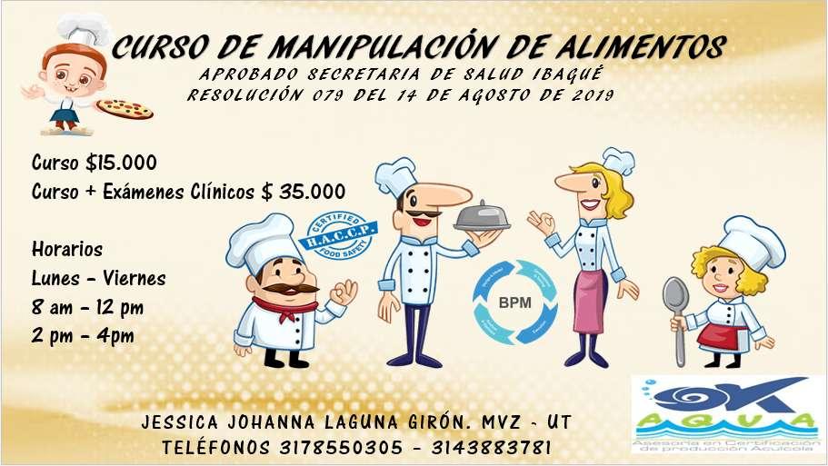 Curso de Manipulación de Alimentos en la Ciudad de Ibaguè