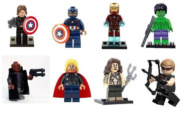 coleccion de figuritas MARVEL compatible con LEGO