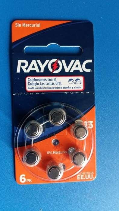 Blister 6 pilas Rayovac 13