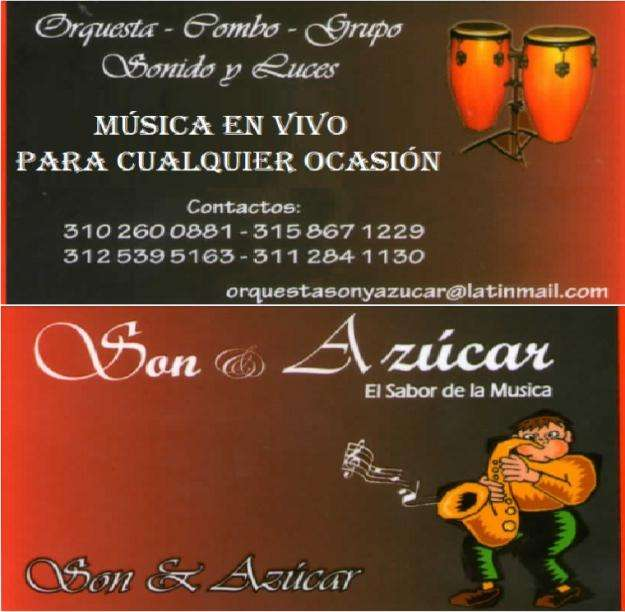 Orquesta SON Y AZUCAR. Grupo Musical Duitama, Grupo Musical Sogamoso, Grupo Musical Tunja