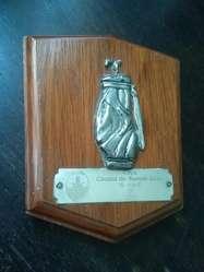 Plaqueta premio Golf Copa Ciudad de Buenos Aires 2001 segundo puesto