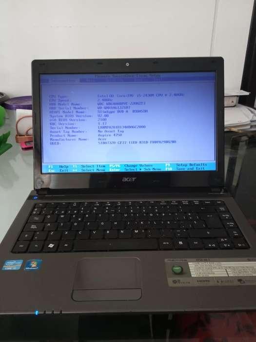 Acer Corei5 4gbram 500hd