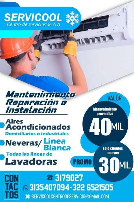 Mantenimiento de Aires Lavadoras Y Never