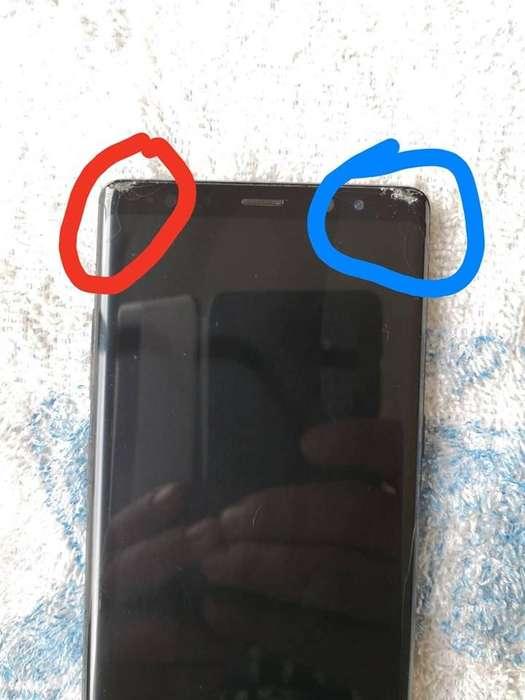 Samsung Galaxy Note 8 Leve Fisura de Visor 750.000. Whtp 305 747 6350.